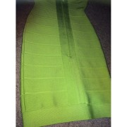 Herve Leger Classic Essentials Lauren Lime Green Dress XXS 3-900x900