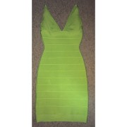 Lust4labels Herve Leger Classic Essentials Lauren Lime Green Dress XXS-900x900 (1)
