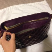Lust4labels Marc Jacobs Patent Maroon Purple XL Single Quilted Shoulder Bag GHW 10-900x900