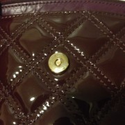 Lust4labels Marc Jacobs Patent Maroon Purple XL Single Quilted Shoulder Bag GHW 13-900x900