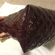 Lust4labels Marc Jacobs Patent Maroon Purple XL Single Quilted Shoulder Bag GHW 3-900x900