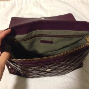 Lust4labels Marc Jacobs Patent Maroon Purple XL Single Quilted Shoulder Bag GHW 7-900x900