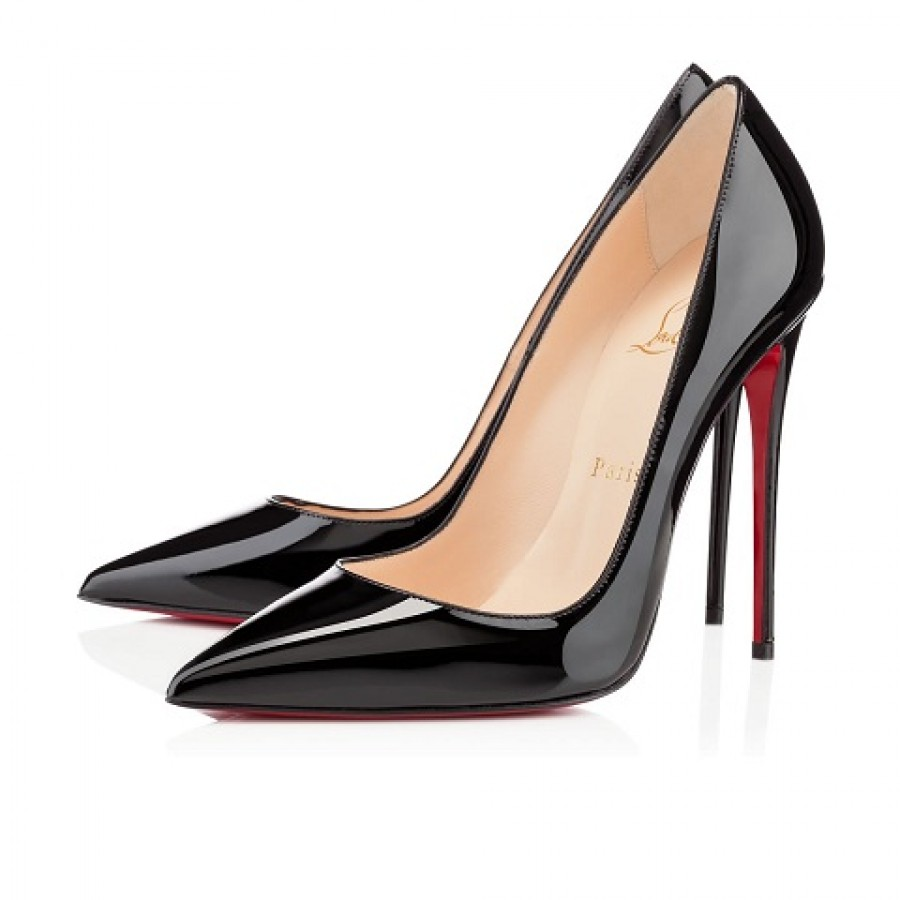 68103b6c8126  800 Christian Louboutin Black Patent Leather So Kate Pumps 120mm SZ ...