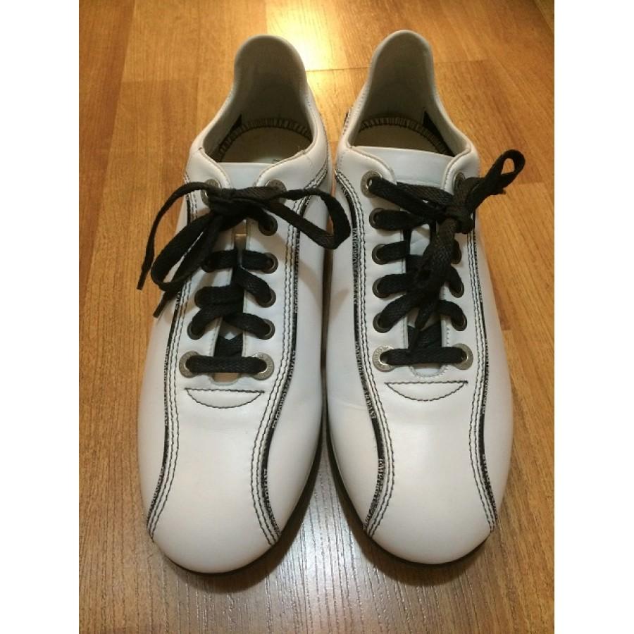 white armani sneakers