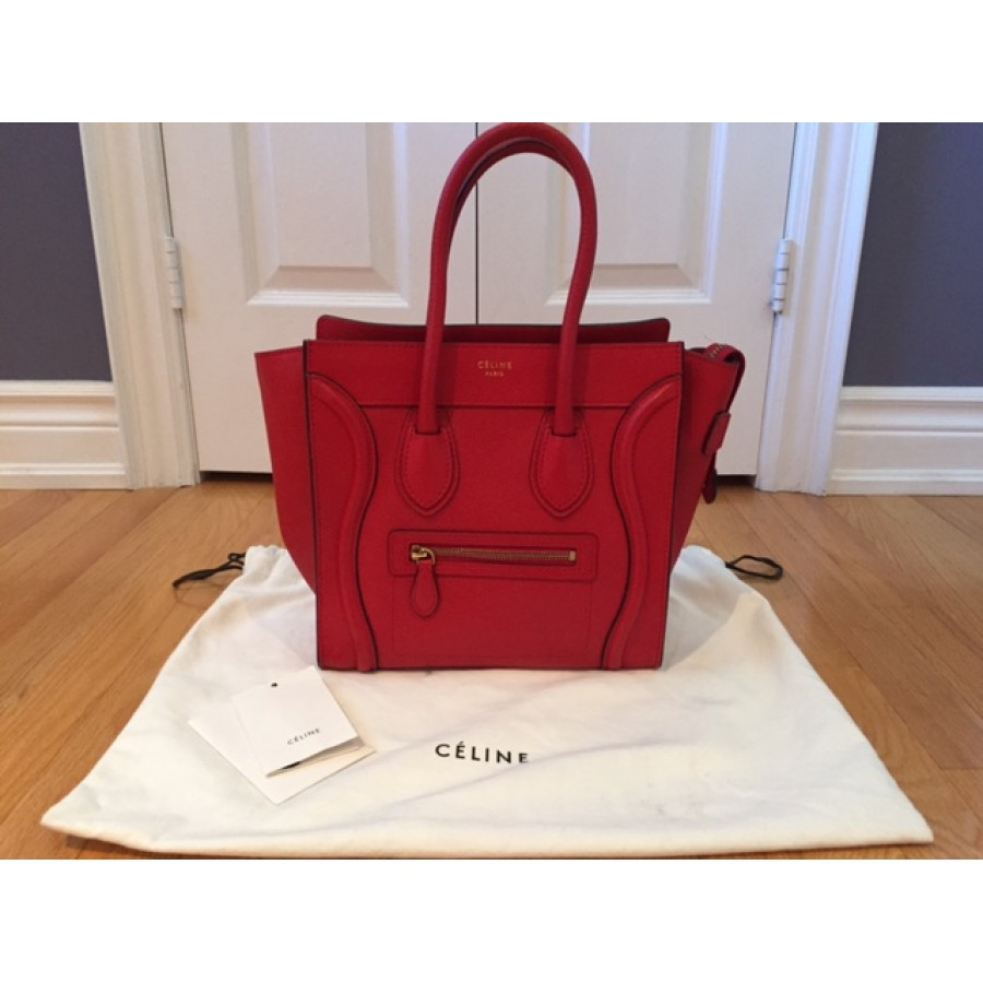 celine tote bag in pink leather