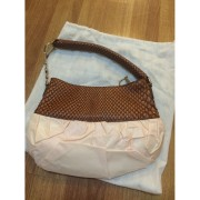 Christian Dior Ballet Collection Satin Tie Python Exotic Pink Tan Bag Purse Lust4labels 4-900x900