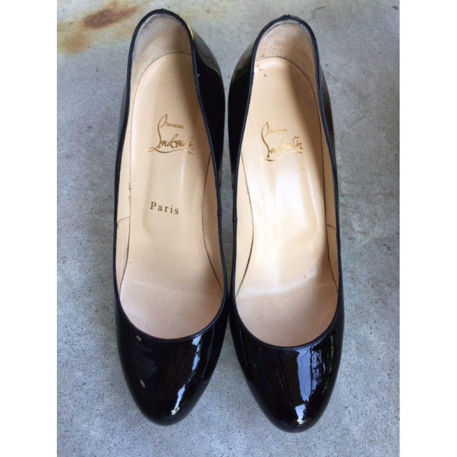 bb0daebed996  1000 Christian Louboutin Classic Black Patent Leather Bianca 120mm ...
