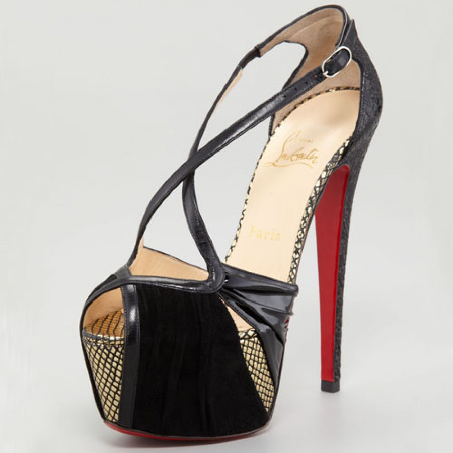 98a9c0040e3 $1400 Christian Louboutin Divinoche Suede Leather Sandals Heels Daf ...