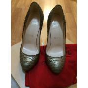 Christian Louboutin Feticha 120mm Bronze Metallic Exotic Python Leather Pumps Lust4labels 1-900x900