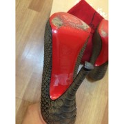 Christian Louboutin Feticha 120mm Bronze Metallic Exotic Python Leather Pumps Lust4labels 6-900x900