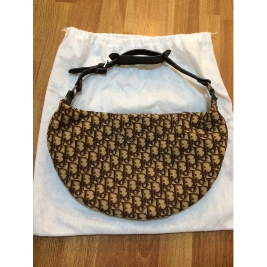 167a34afe1 Christian dior Monogram Canvas Brown Logo Hobo Shoulder Bag Purse  Lust4labels 1-900x900