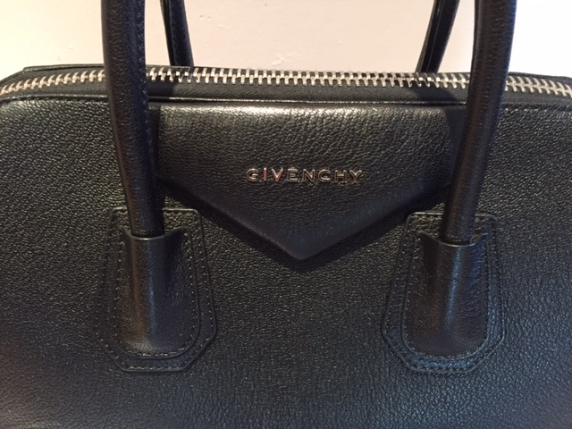 6984317e4df3a $2800 Givenchy Medium Antigona Sugar Goatskin Black Leather Tote ...