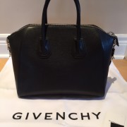 Givenchy Medium Antigona Black Sugar Goatskin Leather Bag Purse Lust4labels 4