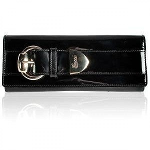 Gucci Crystal Buckle Black Patent Evening Clutch Wallet Lust4labels 9-900x900