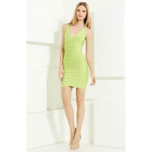 Herve-Leger-Lime-Green-Bandage-Dress-V-Neck-Lauren_1-900x900