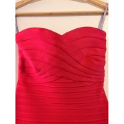 Herve Leger Red Poppy Claudia Strapless Dress XXS Lust4Labels-900x900