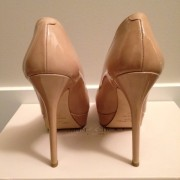 Jimmy Choo Patent leather Nude Beige Classic Cosmic Pumps Lust4Labels 3-900x900
