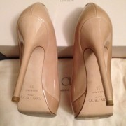 Jimmy Choo Patent leather Nude Beige Classic Cosmic Pumps Lust4Labels 5-900x900