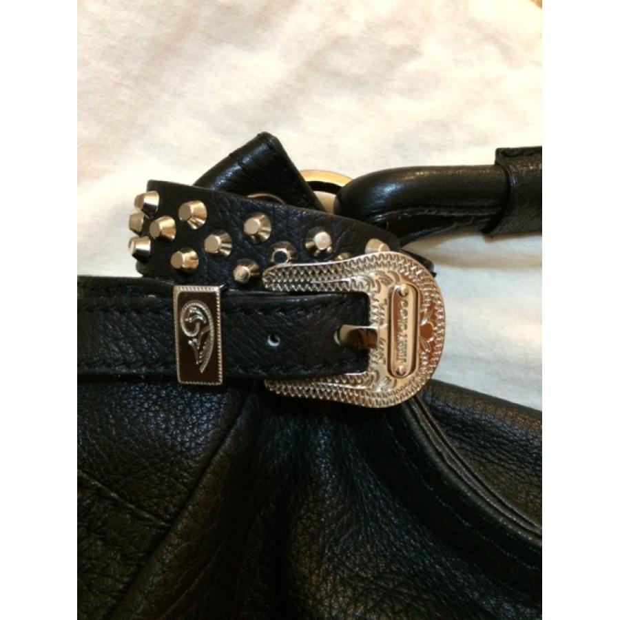 2ad53e5728 Jimmy Choo Sky Studded Silver Hardware Black Leather Hobo Bag Purse  Lust4Labels 2-900x900