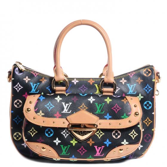 5209f35231ac  3000 Louis Vuitton Monogram Multicolor Black Rita Gold Chain Bag ...