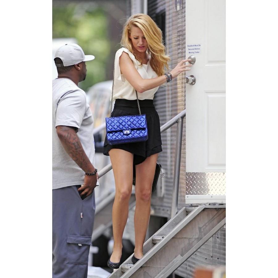 23518fb2317 Lust4labels Chanel Classic Reissue Metallic Blue Double Flap Classic  Shoulder Bag Purse SHW 15b-900x900