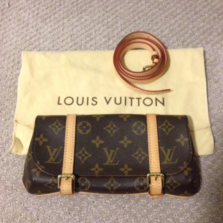 04e614e98abd4  700 Louis Vuitton Monogram Canvas Logo Brown Leather LV Eva ...