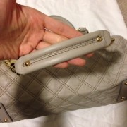 Lust4labels Marc Jacobs Grey Leather Quilted Stam GHW 11 shoulder bag-900x900
