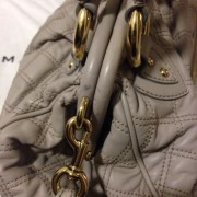 Lust4labels Marc Jacobs Grey Leather Quilted Stam GHW 3 shoulder bag-900x900