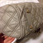 Lust4labels Marc Jacobs Grey Leather Quilted Stam GHW 6 shoulder bag-900x900