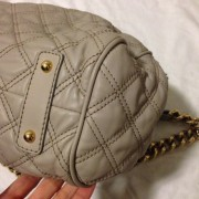 Lust4labels Marc Jacobs Grey Leather Quilted Stam GHW 7 shoulder bag-900x900
