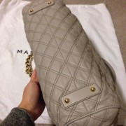 Lust4labels Marc Jacobs Grey Leather Quilted Stam GHW 8 shoulder bag-900x900