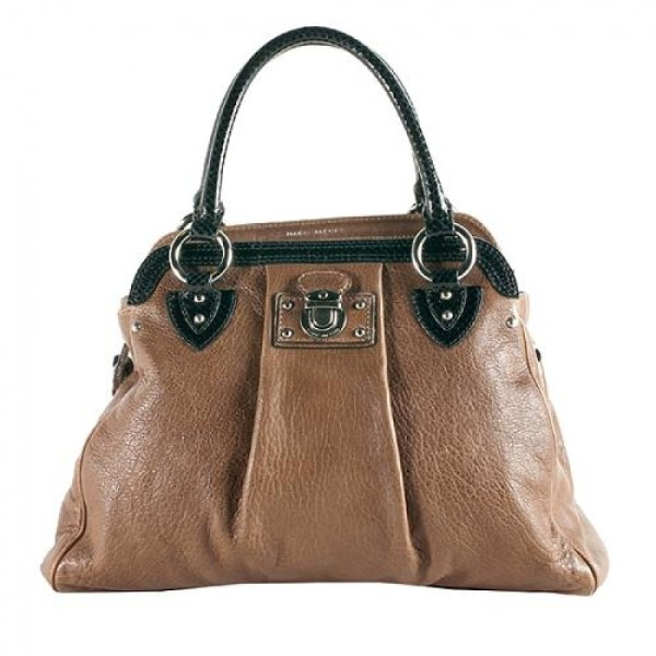 Marc Jacobs Alyona Python Trim Brown Leather Tote Shoulder Bag Purse Lust4labels 11-900x900