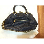 Marc Jacobs Classic Navy Blue Stam Gold Chain Bag Purse Lust4Labels 10-900x900