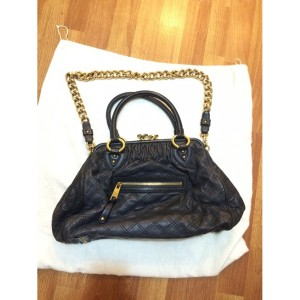 Marc Jacobs Classic Navy Blue Stam Gold Chain Bag Purse Lust4Labels 11-900x900