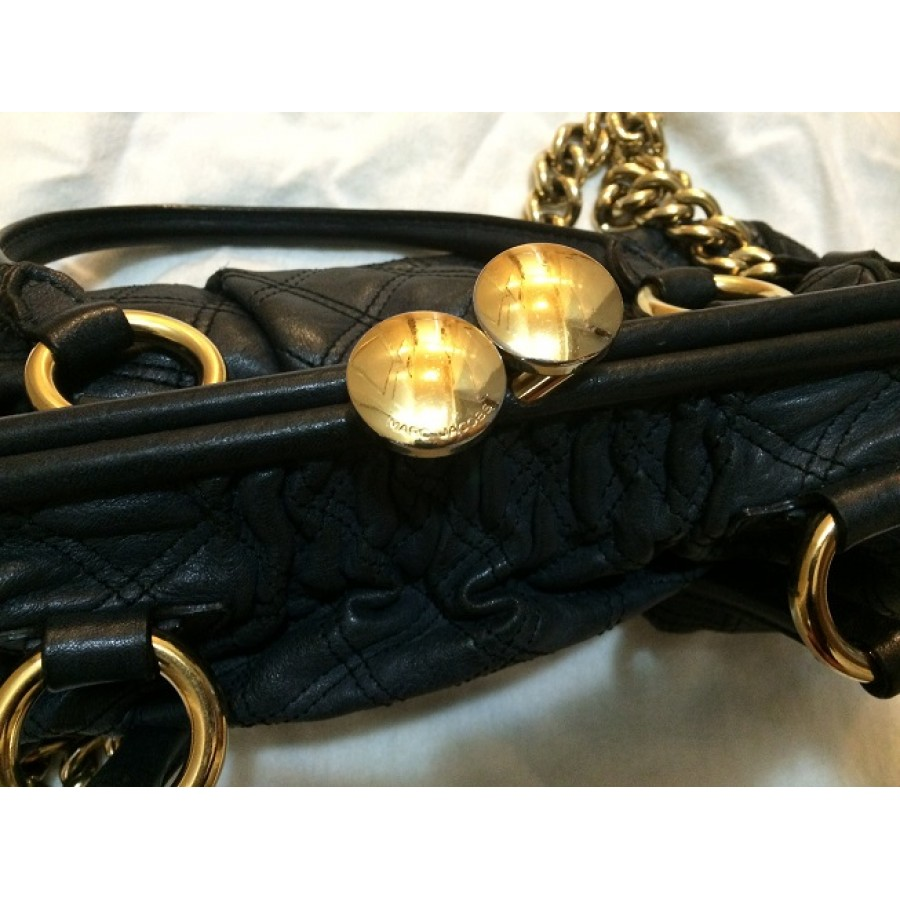 5c27b0b74f8b Marc Jacobs Classic Navy Blue Stam Gold Chain Bag Purse Lust4Labels  6-900x900
