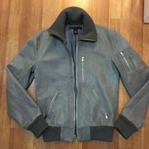 Mens Marc by Marc Jacobs Grey Lux Leather Jacket SZ S Lust4labels 1