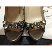 Prada Crystal Taffeta Jewel Bling Peeptoe Pewter Pumps Lust4Labels 2-900x900