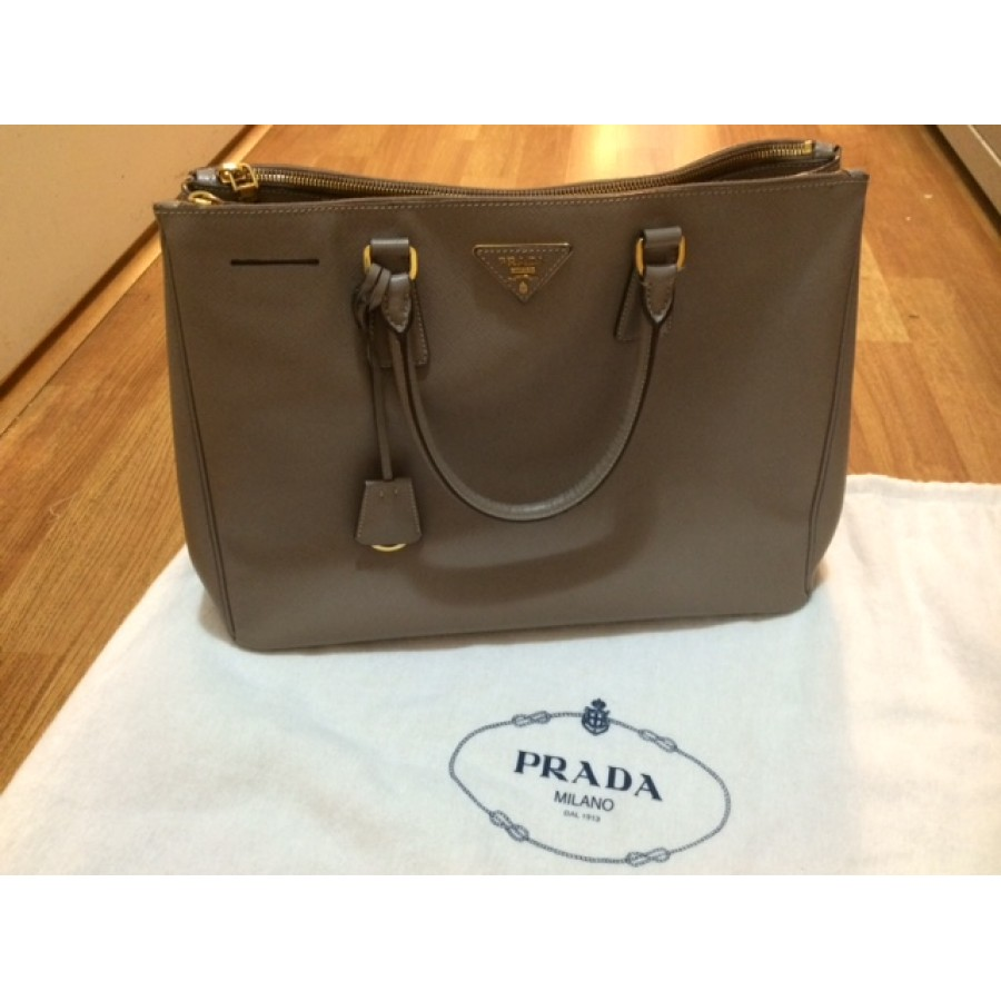 94ec57b6cfcf Prada Saffiano Grey Leather Large Tote Bag Purse BN1782 Lust4Labels  1-900x900