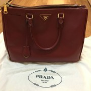 Prada Saffiano Lux Red Rubis Leather Tote Bag Purse BN 1782 Lust4Labels 1