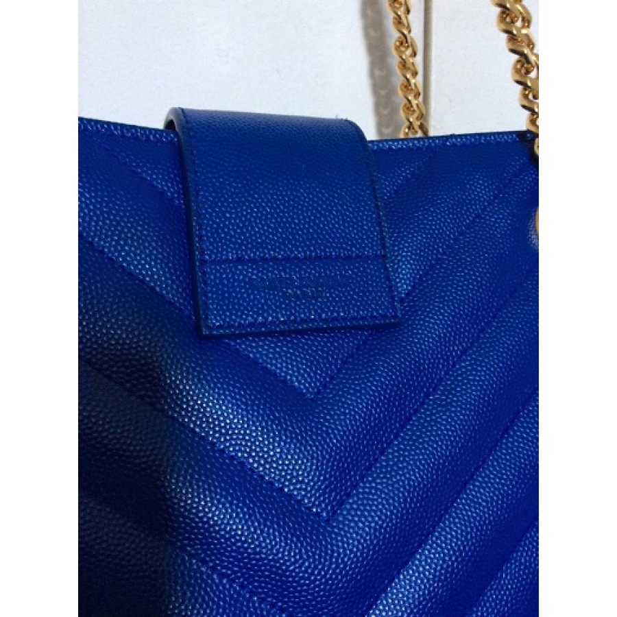 ysl monogram shoulder bag - $2800 YSL Yves Saint Laurent Paris Cassandre Classic Large Chevron ...