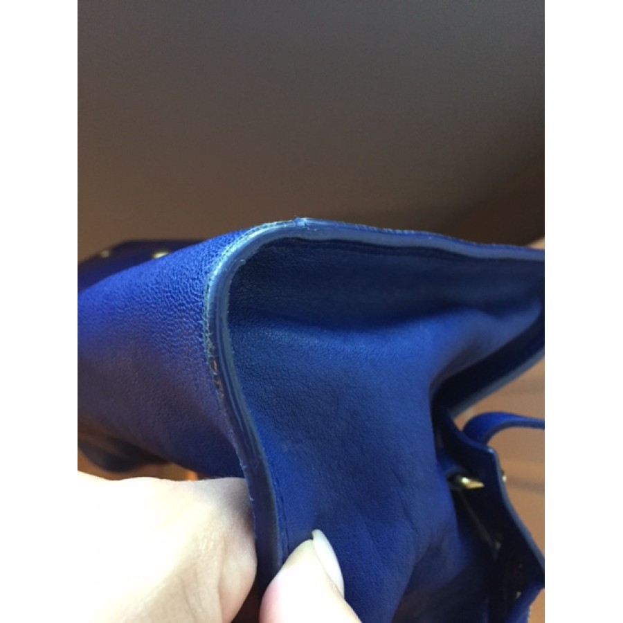 yves st. laurent purses - $2300 Yves Saint Laurent YSL Y Cabas Chyc Ligne Royal Cobalt Blue ...