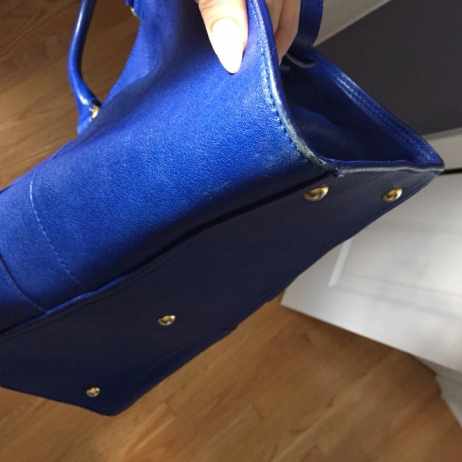 $2300 Yves Saint Laurent YSL Y Cabas Chyc Ligne Royal Cobalt Blue ...