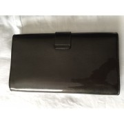 YSL Yves Saint Laurent Y Chyc Grey Patent Leather Clutch Lust4Labels 5-900x900