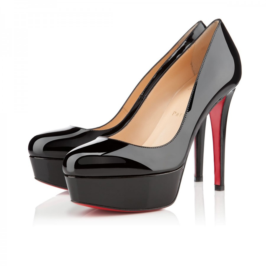 91a8bee7941  1000 Christian Louboutin Classic Black Patent Leather Bianca 120mm ...