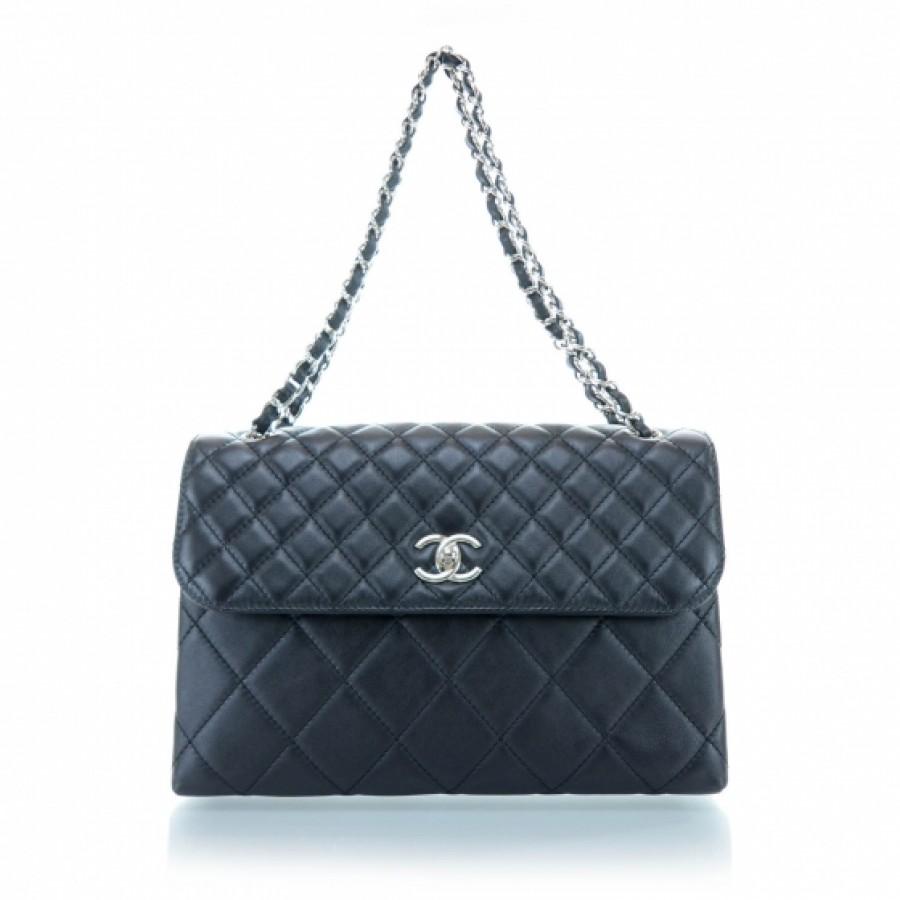 8e67f6e7c0287a $3300 Chanel Classic In the Business Maxi Jumbo Flap in Black ...