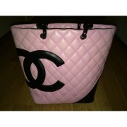 chanel cambon cc logo pink tote purse bag 1-900x900