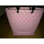 chanel cambon cc logo pink tote purse bag 2-900x900