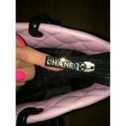 chanel cambon cc logo pink tote purse bag 6-900x900