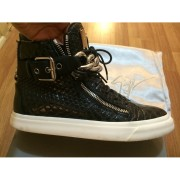 giuseppe zanotti black silver chain croc embossed sneakers 5-900x900