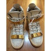 giuseppe zanotti white gold ringo croc embossed sneakers-900x900